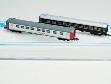 Two each FR Z-scale NetRail/Veolia litt B05/B04 passenger cars  Swedish RR