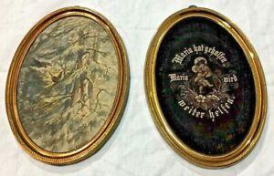 Paar kleine Messing-Bilderrähmchen, um 1900