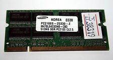 MODULO RAM SODIMM DDR SAMSUNG 512MB 200pin USATA OTTIMO STATO EL1 38319