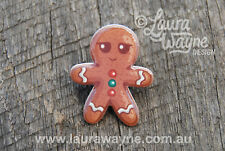 Gingerbread Man Lapel Pin Brooch Handmade Badge Christmas Pins Gift Jewellery