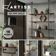 Artiss Floating Wall Shelves Bookshelf Display Bracket Industrial DIY Pipe Shelf