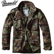 Brandit Herren Winter Jacke M65 Field Jacket Feldjacke Vintage Woodland L