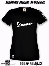 Ladies Vespa T Shirt  Small to XXL - Scooter Clothing.  EXCLUSIVE to Ska Shack
