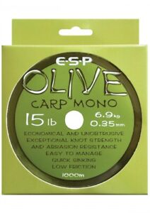 ESP Olive Carp Mono Fishing Line 1000m 15lb