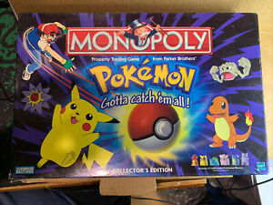 1999 VINTAGE POKEMON MONOPOLY COLLECTOR'S EDITION BOARD GAME
