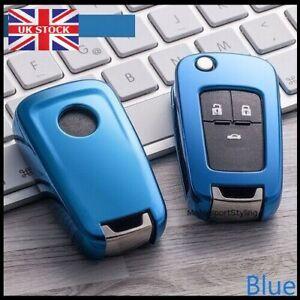 Blue Key Cover For Vauxhall Opel Mokka A Insignia Antara Case Fob Button 3 t10*