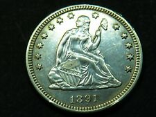 1891 SEATED LIBERTY Quarter 25C Very Nice Condition You Grade It #SL2