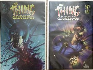 The Thing From Another World 1 2 Dark Horse 1991 Comic Book Set Run 1-2 VF/NM