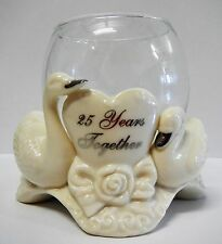 Papel 25th Wedding Anniversary Jade Porcelain Votive To Have and To Hold