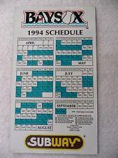 VINTAGE 1994 BOWIE BAYSOX SGA SCHEDULE MAGNET; BALTIMORE ORIOLES AA TEAM