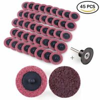 """45Pc 2"""" Medium Grit Roloc Cleaning Conditioning Roll Lock Surface Sanding Discs"""