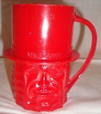 Vintage Red Mr. Peanut Plastic Cup/Mug by Planters (1960's)