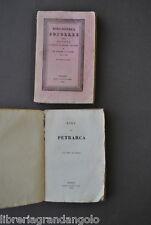Letteratura Rime Petrarca Raccolta Opere Classiche Italiane Tradotte  Pomba 1830