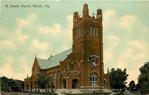 Alabama, AL, Mobile, ST Joseph's Church 1910's Postcard