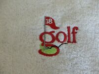 PERSONALISED GOLF 18th Hole Towel Tournaments, Trips abroad, Gift, Hook on bag