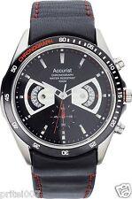 Accurist Men's Chronograph Quartz Rotating Disc Scratch Resistant Watch - Black