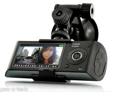 Dual Front + Rear Camera Car Dashboard DVR: Automatic Recording: 2.7 Inch LCD