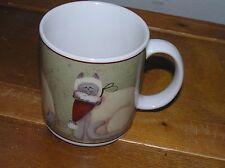 Gently Used The Sakura Table Christmas Kitty Cats in Santa Hats Coffee Cup Mug