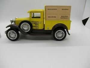GOLDEN RULE LUMBER CENTER 1930 MODEL A FORD  BANK FIRST EDITION
