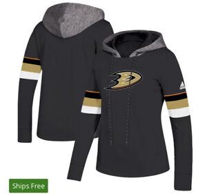 Anaheim Ducks adidas Women's Crewdie Pullover Hoodie - Lice Official Size XL