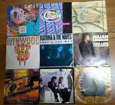 New Listing1980's Rock/Pop 45 Rpm Vinyl Rec Lot Chicago Winwood Katrina The Waves More R8
