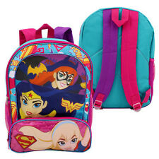"16"" DC Super Hero Trio Girls School Backpack Bag Batgirl Wonder Woman Supergirl"