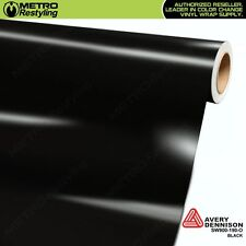 Avery Supreme Gloss Black Vinyl Vehicle Car Wrap Film Sheet Roll Sw900-190-O