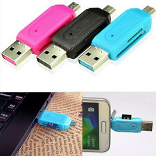 New Portable USB OTG 2.0 Adapter Micro SD SDHC T-Flash Memory Card Reader For PC