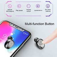 Bluetooth 5.0 Headset TWS Earbuds Wireless Earphones Stereo Headphones IPX6 USA