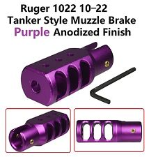 US Seller Anodized Purple Aluminum 6061 T6 Ruger 1022 Muzzle Brake Competition