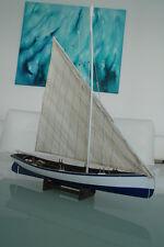 Fischerboot mit Segel Kutter Boot Maritim Schiff 61 cm lang Dekoration Neu No.54