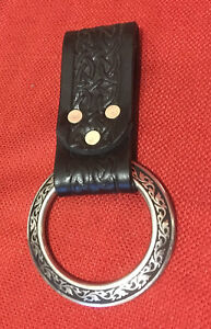 Metal Ring Leather Tomahawk Frog Hanger Hatchet Axe Sword Dagger SCA Larp Pirate