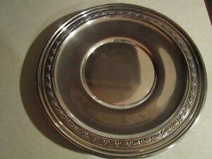 "Antique Sterling Silver 10.5"" Plate B32 Hallmarked Raised Edge Art Noveau 329 gr"