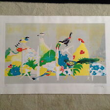 "Robert Munford ""Circus Birds"" original serigraph limited edition 14/120 signed"