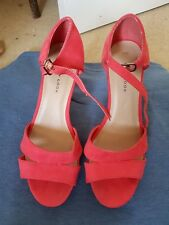 Coral Pink Heels Size 4