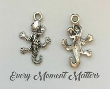 Beads & Jewellelry Making Supplies BULK 50 Lizard gecko charms antique silver tone A1002 jewellery making supplies