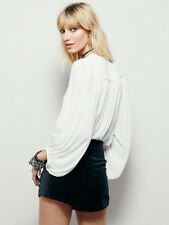Free People Cowl Neck Long sleeves Top / Blouse, Ivory, XS