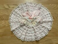 VTG Sweet Treats Girl's Ruffle Laced Full Circle Pageant Dress Size 0-3NB