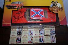 The Dukes of Hazzard 8X Cast Autographed Die-Cast 1:18 General Lee CA COA OOP