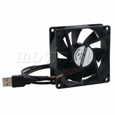 Black 5v Computer Cooling Case Fan 8025 USB Silent Fan 8cm Fan Speed 1300rpm