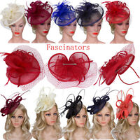 Bridal Hair Accessories Womens Party Fascinator Hair Bands 20's Vintage Headband