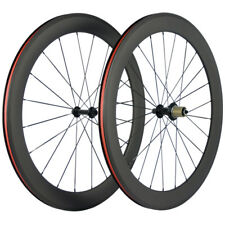 60mm Depth Carbon Wheels Clincher Road Bike Carbon Wheelset Basalt Brake Line