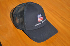 Black UP Union Pacific Shield Denver Colorado Railroad Strapback Hat Cap