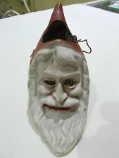 """GERMAN Antique 5 1/2"""" RED~ Santa Head Lantern~ Belsnickle ~ Candy Container"""