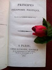 CARRION - NISAS  A. DE-  PRINCIPES D' ECONOMIE POLITIQUE 1825 EDITION ORIGNINALE