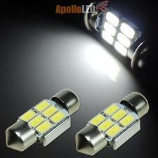2pcs Xenon White 31mm DE3175 5730-SMD LED Bulbs For Under Side Door Lights #E7