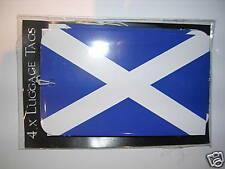 Luggage Tags x 4      St Andrew  Scottish flag