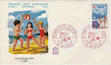 FRANCE FDC - 910A 1828 2 CROIX ROUGE MULHOUSE 30 11 1974 - LUXE