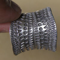 ADJUSTABLE 9-11 By Handmade ThaiJewelry THai Karean Hill Tribe Silver Ring Weight 13.20 G Beautiful Ring Size No