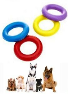 #Solid Dog Rubber Ring Heavy Duty Tough Dog Pull Toy Fetch Retrieve Interactive